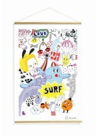 Djeco: Surfs Party Tableau Hanging Wallart