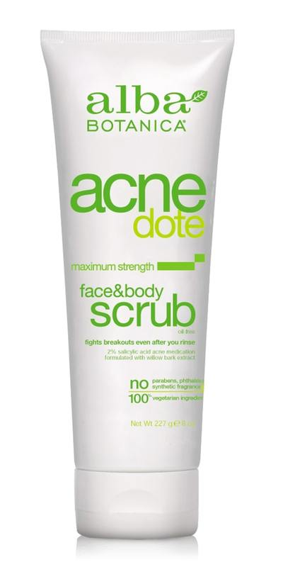 Alba Botanica - AcneDote - Face & Body Scrub, Oil Free (227g)