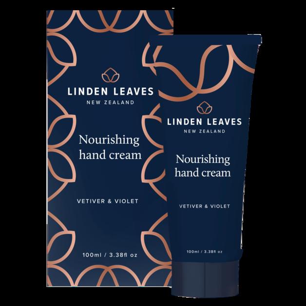 Linden Leaves: Nourishing Hand Cream - Vetiver & Violet (100ml)
