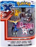 XY Pokémon Super Figure 4 Pack - Xerneas & Yveltal