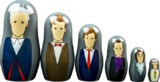 Doctor Who - 7th to 12th Doctor Nesting Doll Set