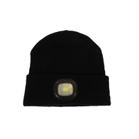 LED Beanie: High Power Waterproof Beanie (Black) image