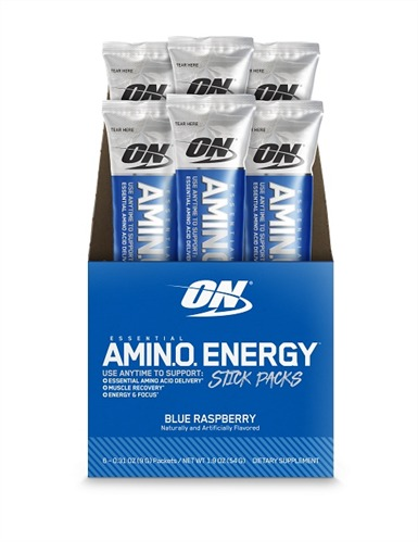 Optimum Nutrition: Amino Energy Drink Stick Pack - Blue Raspberry (6x9g)