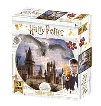 Super 3D: 300-Piece Jigsaw Puzzle - Harry Potter: Hogwarts & Hedwig image