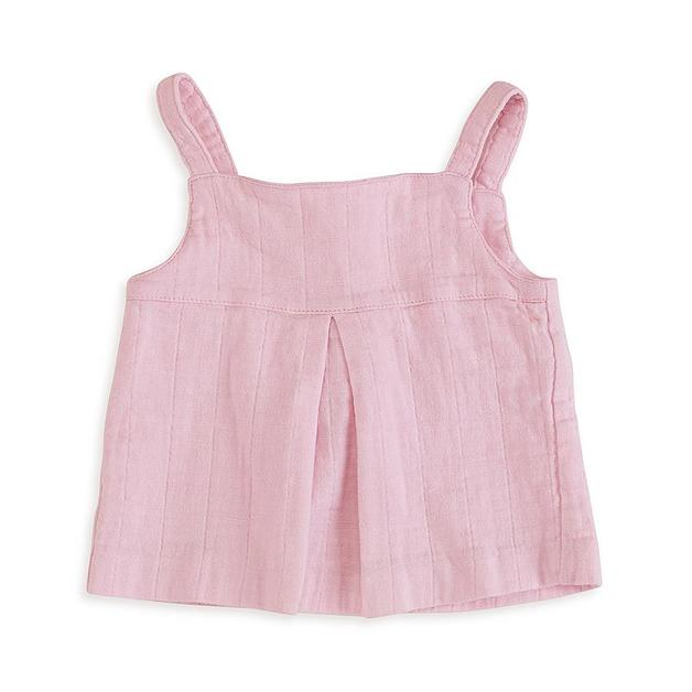 Aden + Anais: Smock Top - Lovely Pink (9-12 Months)