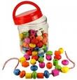 Fun Factory: Lacing Beads in Jar 90 Piece