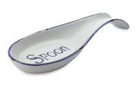 Casa Domani: Rustica Spoon Rest Blue