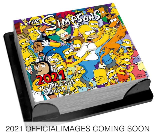 Official The Simpsons 2021 Boxed Day-to-Day Calendar