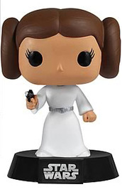 Star Wars Princess Leia Pop! Vinyl Bobble Head Figure image