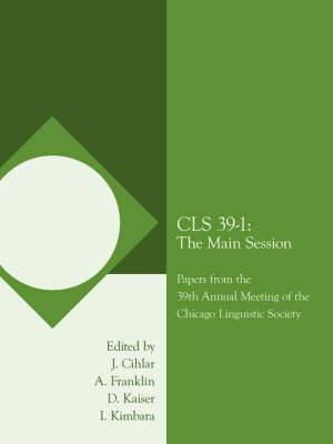 Cls 39-1 by J. Cihlar and A. Franklin