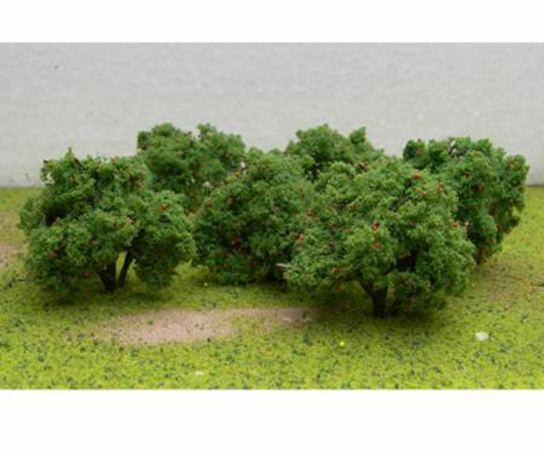 "JTT Scenic Apple Tree Grove 2""-2.25"" (6 pk) - H0 Scale image"