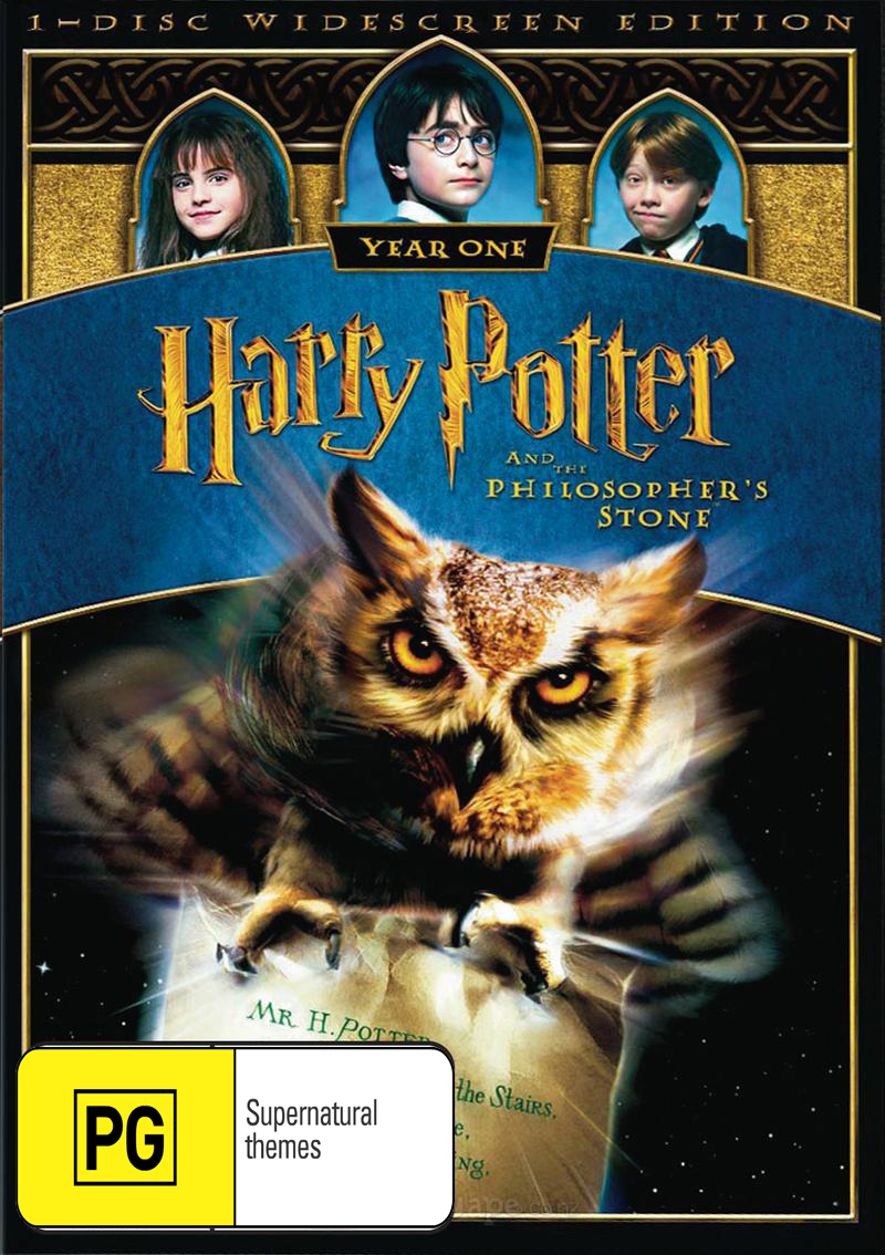 Harry Potter and the Philosopher's Stone - 1 Disc (New Packaging) DVD image