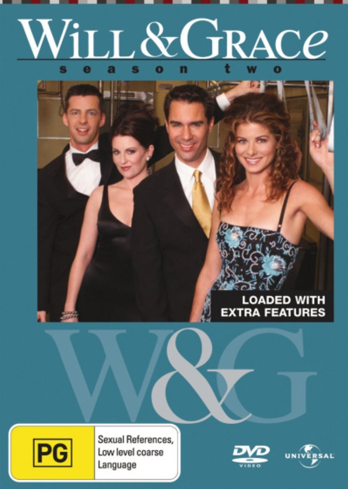 Will & Grace - Season 2 (4 Disc Set) on DVD image