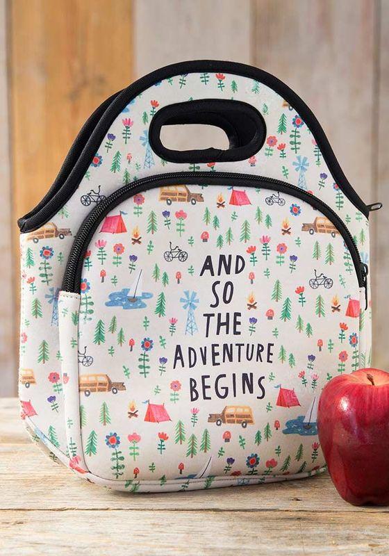 Natural Life: Neoprene Lunch Bag - Adventure Begins