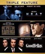 GoodFellas / Once Upon A Time In America / Heat - Triple Feature (3 Disc Set) on DVD