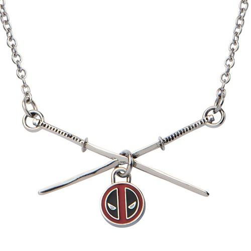 Deadpool Sword Logo Pendant Stainless Steel Necklace