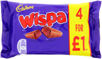Cadbury Wispa Chocolate Bar 4pk