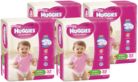 Huggies Ultra Dry Nappies Bulk Shipper - Walker Girl 13-18kg (128)