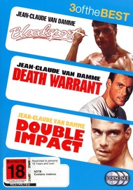 Bloodsport / Double Impact / Death Warrant (3 Disc Set) on DVD
