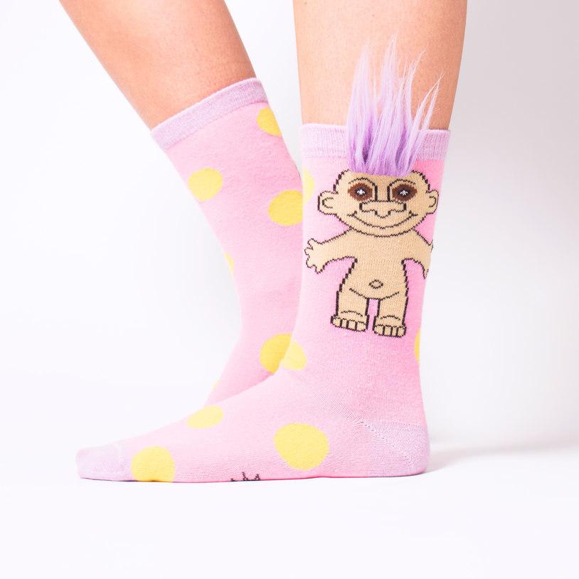 Troll Socks (Pink Polka Dot Party) image