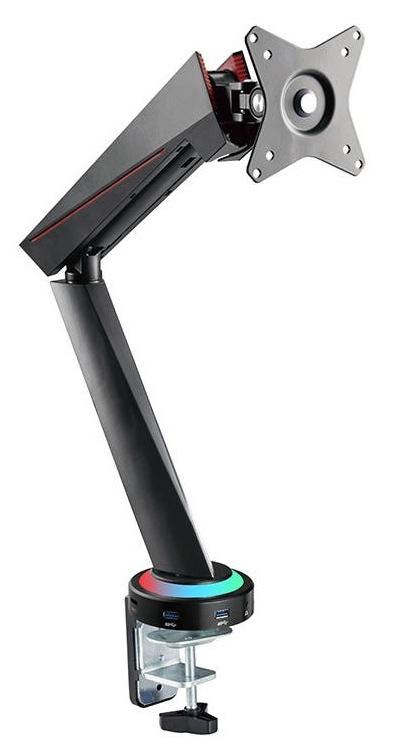 Kogan Full Motion Spring-Assisted RGB Gaming Monitor Mount with USB Hub