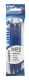 Pilot Super Grip-G Retractable Ballpoint Pen - Blue (3 Pack)