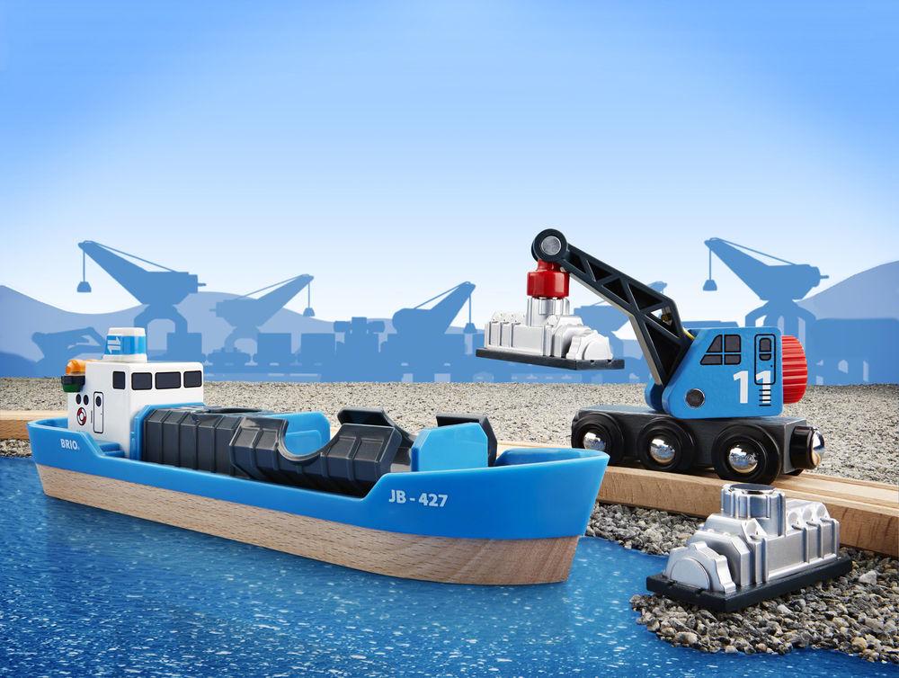 Brio: Railway - Freight Ship & Crane image