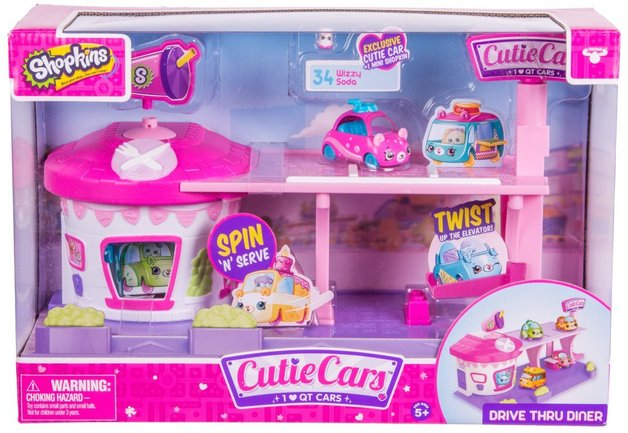 Shopkins: Cutie Cars - Drive Thru Diner Playset