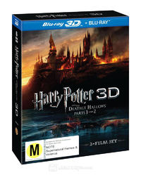 Harry Potter & The Deathly Hallows Part 1 and 2 on Blu-ray, 3D Blu-ray