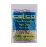 Celco 31mm Triangle Paperclips (200 Pack)