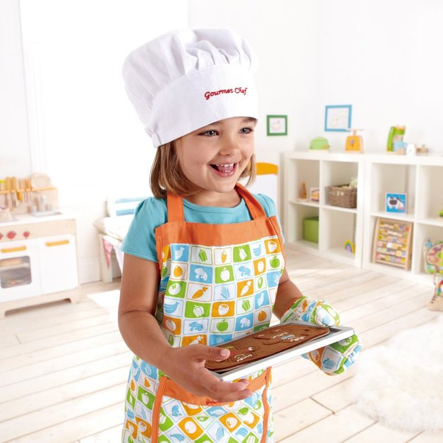 Hape Chefs Apron Hat Set For Kids Toy At Mighty Ape Nz