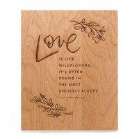 Cardtorial Print - Love Is Like Wildflowers