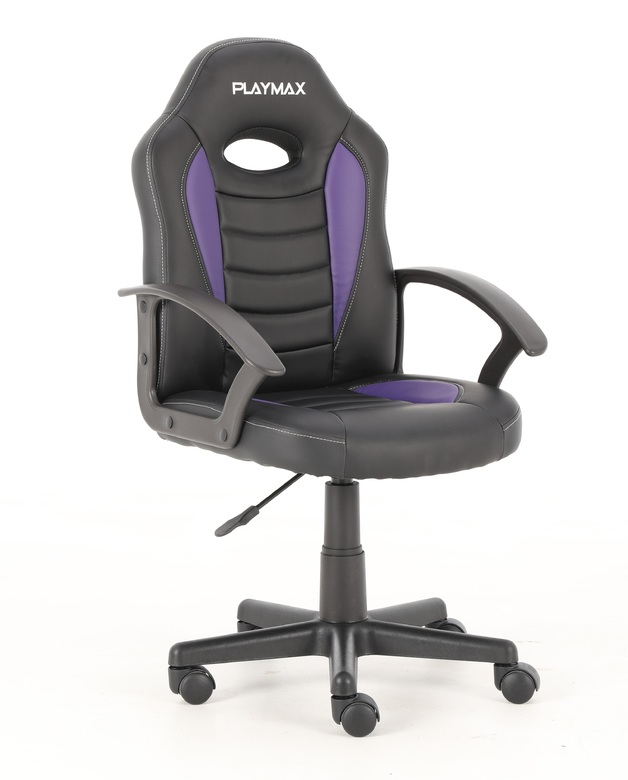Playmax Kids Gaming Chair - Purple and Black for