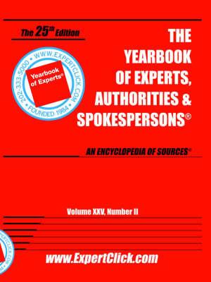 Yearbook of Experts, Authorities & Spokespersons, Vol XXV, No II