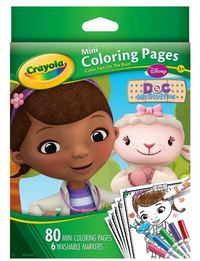 Doc Mcstuffins Mini Coloring Pages & Markers - Crayola
