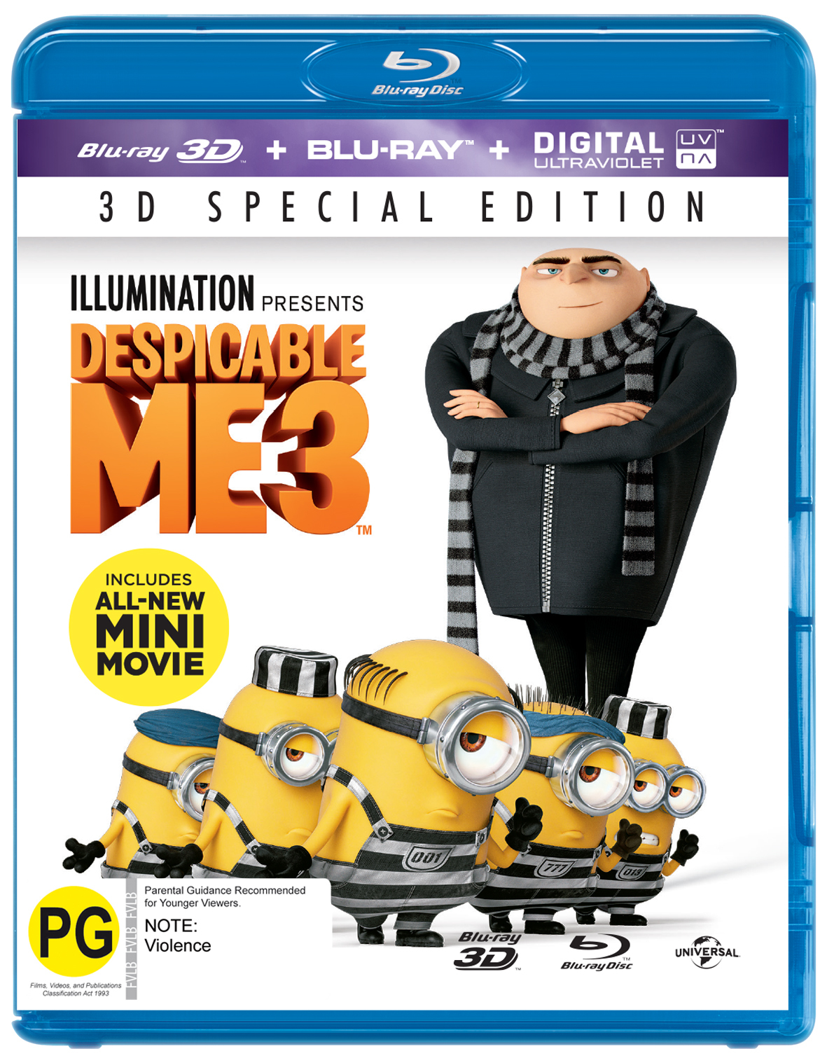 Despicable Me 3 on Blu-ray, 3D Blu-ray image
