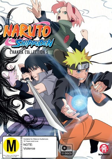 Naruto Shippuden: Chakra Collection 5 - (Eps 284-355) on DVD