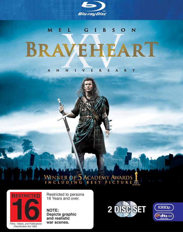Braveheart - XV Anniversary (2 Disc Set) on Blu-ray