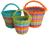 Woven Storage Baskets (Cross Handle)