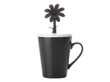 Doozie Bloom Mug with Lid (310ml) - Black