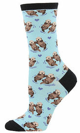 Socksmith: Significant Otter Socks - Chalk Blue