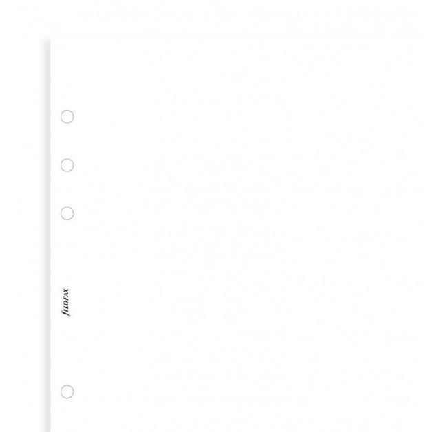 Filofax - A5 Plain Notepaper - White (25 Sheets)