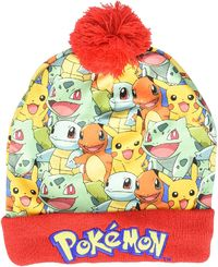 Pokemon: Kanto Group Sublimated Pom Beanie