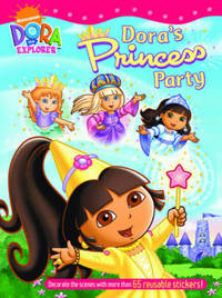 Dora's Princess Party Sticker Book by Nickelodeon image