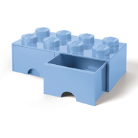 LEGO Storage Brick Drawer 8 (Light Blue)