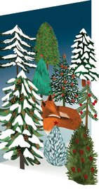 Roger La Borde: Lasercut Card - Sleepy Fox (5 Pack)