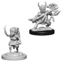 D&D Nolzurs Marvelous: Unpainted Miniatures - Female Halfling Fighter