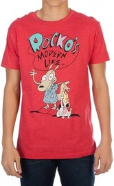 Rocko's Modern Life - Mens Red T-Shirt (2XL)