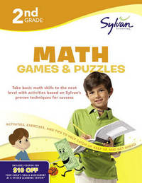 Second Grade Math Games & Puzzles (Sylvan Workbooks) by Sylvan Learning image