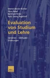 Evaluation Von Studium Und Lehre by Marion Becker-Richter